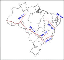 Tipos de rodovias federais