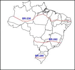 rodovias transversais do Brasil