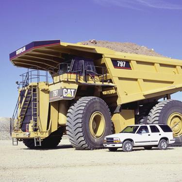 catterpilar 797b maior caminhão do mundo