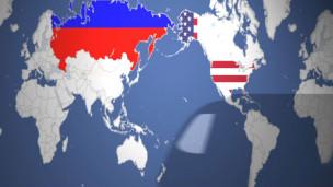 Ferrovia ligando a Rússia aos EUA
