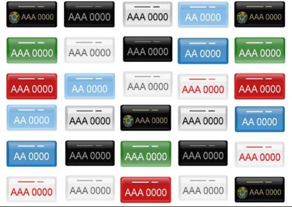 Organização das placas de identificação de veículos