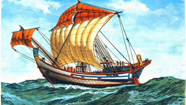 O mar, o barco e a vela